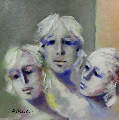 Quadro di Umberto Bianchini Ragazze - Pittori contemporanei galleria Firenze Art