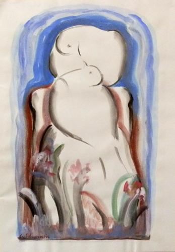 Quadro di Giorgio Polykratis Amore - acquerello carta