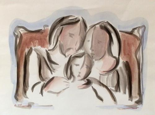 Quadro di Giorgio Polykratis Insieme - acquerello carta