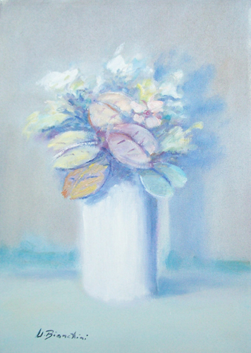 Quadro di Umberto Bianchini Fiore - olio tela