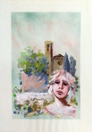 Quadro di Umberto Bianchini Ricordi - Pittori contemporanei galleria Firenze Art