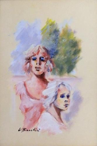 Quadro di Umberto Bianchini Insieme - tempera carta