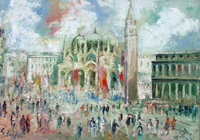 Quadro di Emanuele Cappello  Piazza San Marco, Venezia