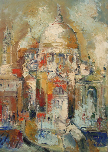 Art work by Emanuele Cappello Santa Maria della Salute - oil canvas