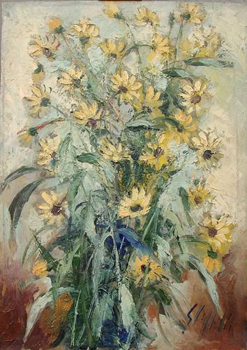 Quadro di Emanuele Cappello Vaso di fiori - olio tela