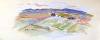 Work of Umberto Bianchini - Paesaggio varnish paper