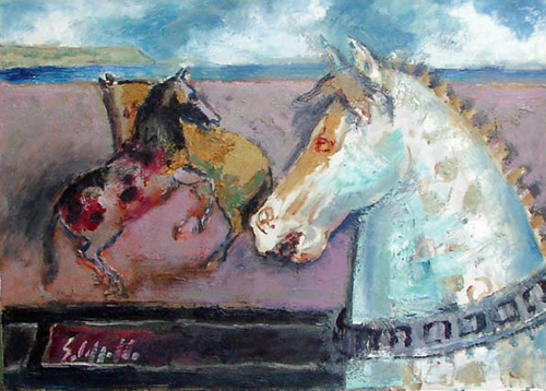 Quadro di Emanuele Cappello Cavalli - olio tela