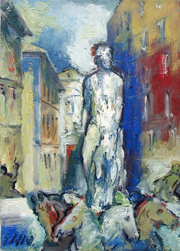 Quadro di Emanuele Cappello Il Biancone - olio tela