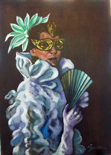 Quadro di Luigi Pignataro Masquerade - olio tela
