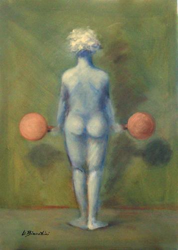 Quadro di Umberto Bianchini Figura - olio tela