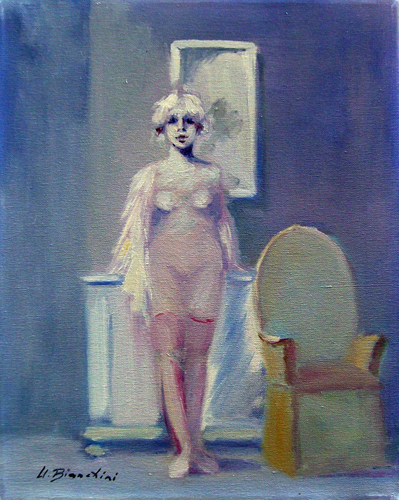Quadro di Umberto Bianchini Sandra - olio tela