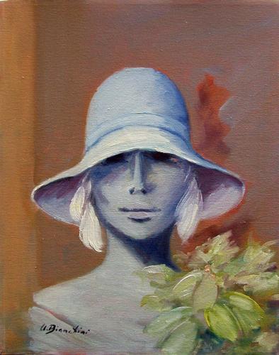 Art work by Umberto Bianchini Giulia - oil canvas