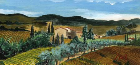 Quadro di Enrico Gallo Colline toscane - Pittori contemporanei galleria Firenze Art
