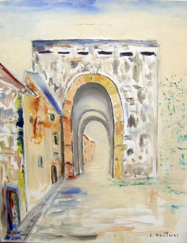 Quadro di Liù Venturi Porta San Frediano - olio tela