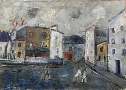 Quadro di Emanuele Cappello  Montmartre - olio tela