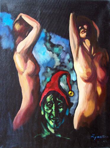 Quadro di Luigi Pignataro Nudi onirici - olio tela