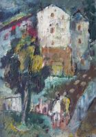Quadro di Emanuele Cappello  Paesaggio con casa