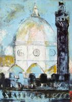 Quadro di Emanuele Cappello  Duomo e Palazzo della Signoria a Firenze