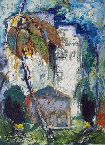 Quadro di Emanuele Cappello Paesaggio - collage tela