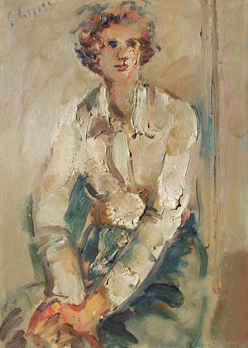 Quadro di Emanuele Cappello Figura - olio tela