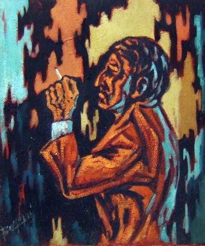 Quadro di Aldo Borgogni Figura - olio tela