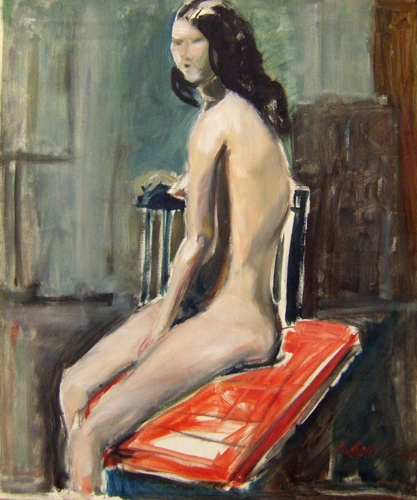 Art work by Rolando Grazzini Figura di donna - oil canvas