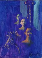 Quadro di Luigi Pignataro - Sogno premonitore acrilico cartone