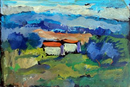 Quadro di Luigi Pignataro Paesaggio - mista faesite