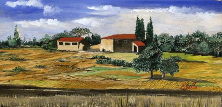 Quadro di Enrico Gallo Terre di Siena - Pittori contemporanei galleria Firenze Art