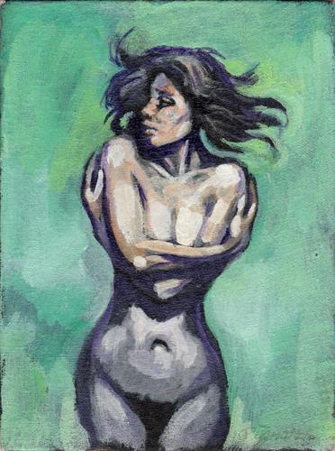 Quadro di Luigi Pignataro Figura di donna - acrilico cartone telato