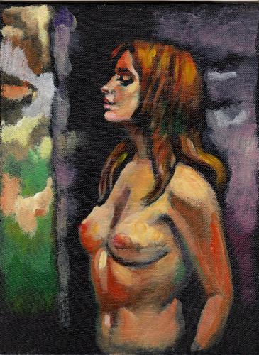 Quadro di Luigi Pignataro Figura femminile - mista cartone telato
