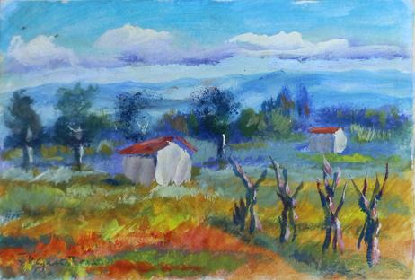 Quadro di Luigi Pignataro Paesaggio - olio cartone