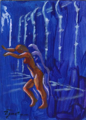 Quadro di Luigi Pignataro Nudo di notte - Pittori contemporanei galleria Firenze Art