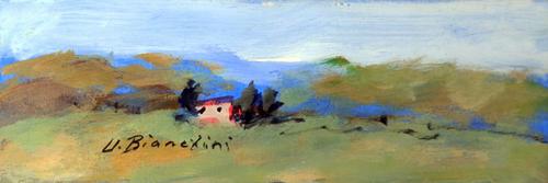 Quadro di Umberto Bianchini Casetta, olio su tavola 8 x 24 | FirenzeArt Galleria d'arte