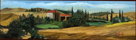 Quadro di Enrico Gallo Paesaggio Toscano Siena