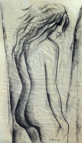 Art work by G. Romoli Nudo - charcoal paper
