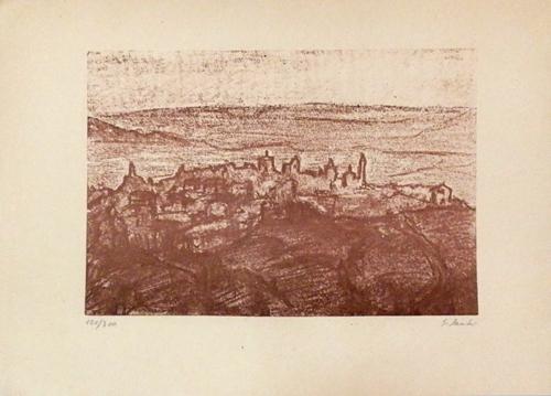 Quadro di Giorgio Sacchi Paesaggio Toscano - stampa carta
