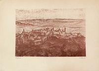 Quadro di Giorgio Sacchi - Paesaggio Toscano stampa carta