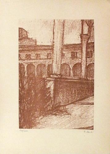 Quadro di Giorgio Sacchi Le colonne - stampa carta
