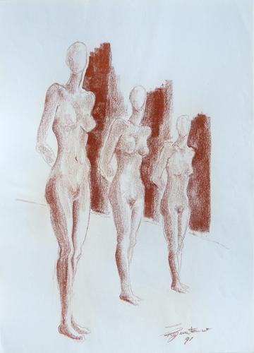 Art work by Luigi Pignataro Figure - blood paper