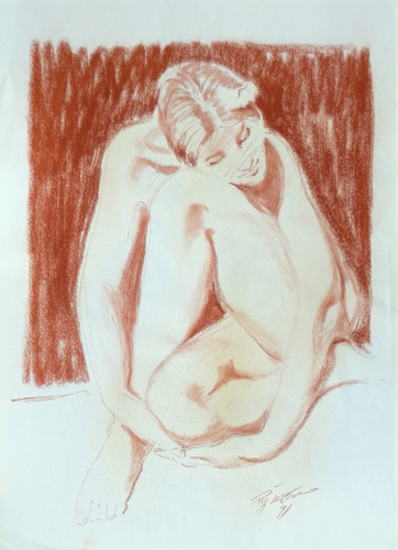 Art work by Luigi Pignataro Figura raccolta - blood paper