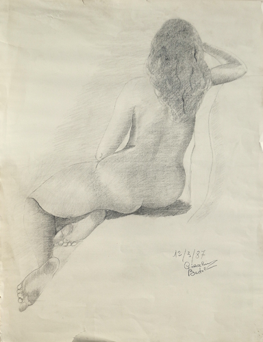 Art work by  Bartoli Nudo in posa - lapis paper