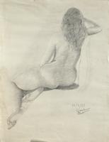 Quadro di  Bartoli  Nudo in posa