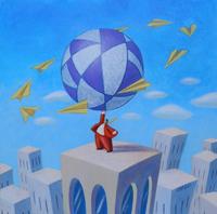 Quadro di Armando Orfeo - Il grande gioco olio tela