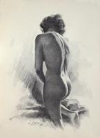 Quadro di L. Santini  Nudo