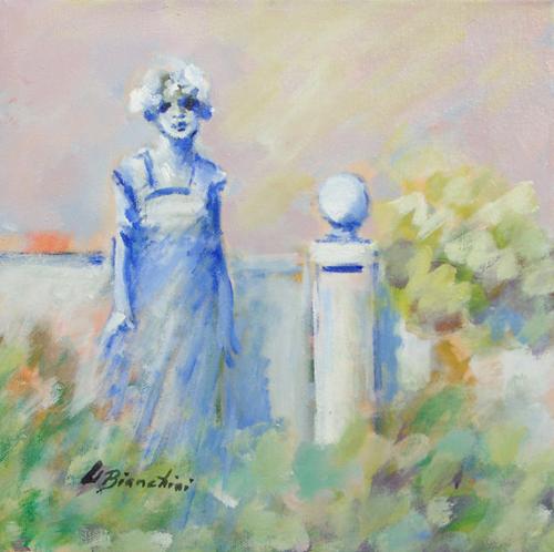 Quadro di Umberto Bianchini Ricordo del Giardino - mista tela