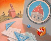 Quadro di Armando Orfeo - Sogando Firenze olio tela