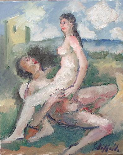 Quadro di Emanuele Cappello Erotico - olio tela