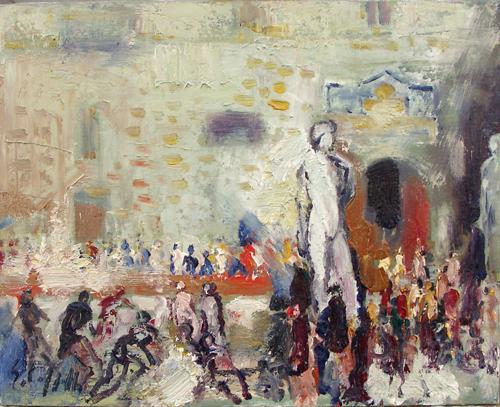 Quadro di Emanuele Cappello David,Palazzo Vecchio, olio su tela 40 x 50 | FirenzeArt Galleria d'arte