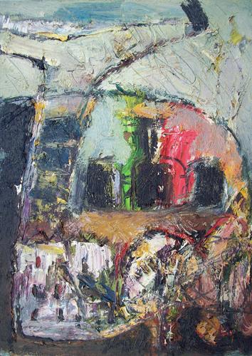 Quadro di Emanuele Cappello Veduta - olio tela